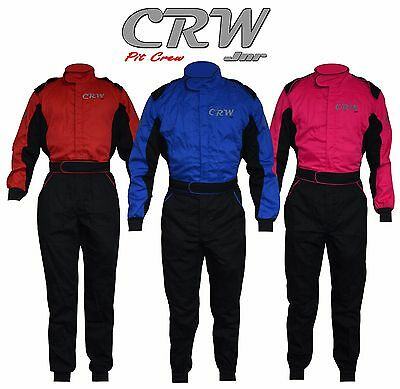 CRW Jnr Pit Crew Suit/ Overalls For Mechanics Or Kids Playing Around In EU20-44