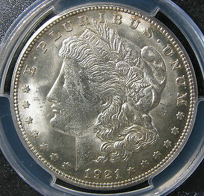 1921-S Morgan Silver Dollar PCGS Certified MS 62 * US Coin #1053