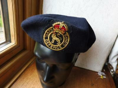 WW2 British Home Front Civil Defence uniform Beret with original KC Badge