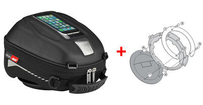 Givi Tanklock Combo Kit - ST602 4 Liter Tank Bag & BF01 Ring Mount Suzuki DL650