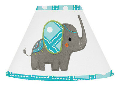 Lamp Shade For Sweet Jojo Turquoise Teal Modern Elephant Jungle Baby Bedding Set