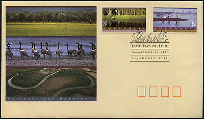 Australia 1992 Wetlands & Waterways FDC First Day Cover #C42892