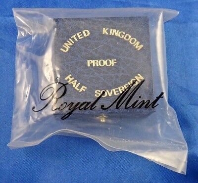 1984 UK Great Britain Proof Gold Half Sovereign Coin Box COA Sealed Unopened
