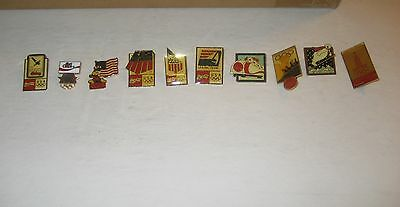 Vintage Olympics Coca Cola Coke Lot of 10  Enamel Lapel Pins (A)