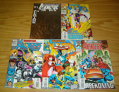 Avengers/X-Men: Bloodties #1-5 VF/NM complete story marvel comics set lot