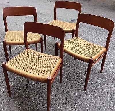 Set Of 4 Niels Moller Dining Chairs - Mid Century Retro -Very Stylish J.l Moller