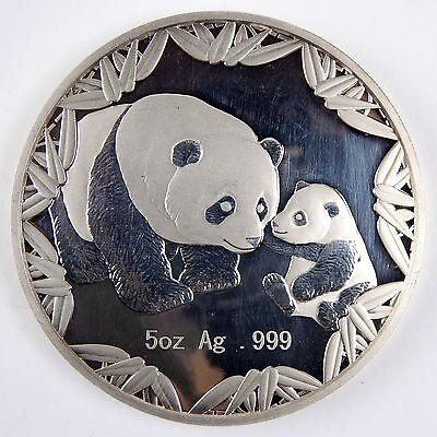 2012 China 5 Oz Silver Panda Medal Philadelphia ANA Show Impaired Proof A2650