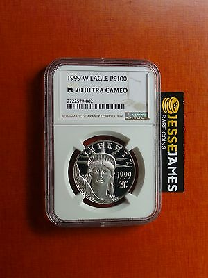 1999 W $100 Proof Platinum Eagle Ngc Pf70 Ultra Cameo Better Date!
