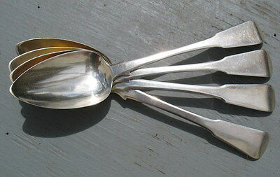 Georgian England, Large Sterling Silver Spoons