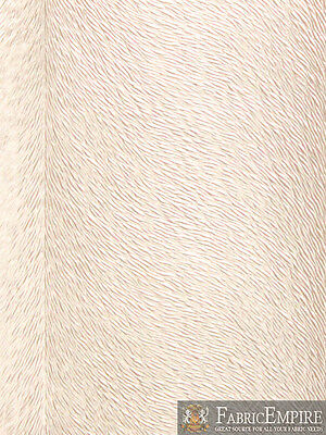 """Vinyl Upholstery Embossed Texture Fabric PONY CHAMPAGNE Fake Leather 54"""" W BTY"""
