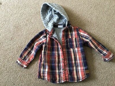Boys Hooded Shirt Age 6-9 Months
