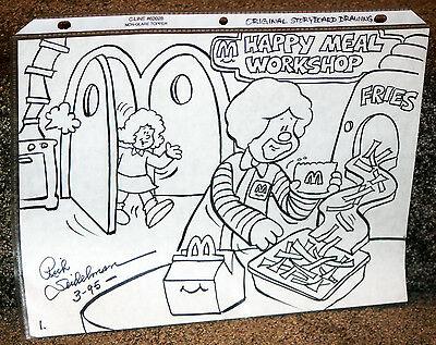 McDonald's Original Story Board Drawing by Rich Seidelman