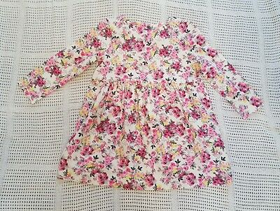 BNWT Joules baby girl long sleeved dress 9-12 months Floral design