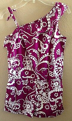 Nwt Gymboree Girls Size 5 Purple With White Romper Shorts