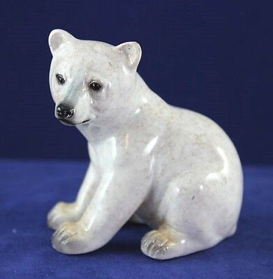 Adorable Little Polar Bear Cub - Made to Look Like it is Hand Carved Stone