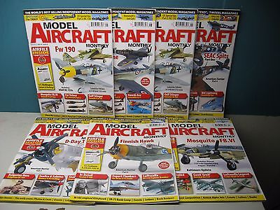 Model Aircraft Monthly Magazines Lot Of 7 Issues From Volume 8 2009