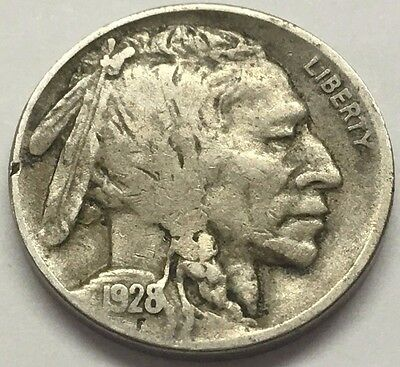 1928 D Buffalo Nickel * U.s. Indian Coin  * Free Bubble Ship With Tracking