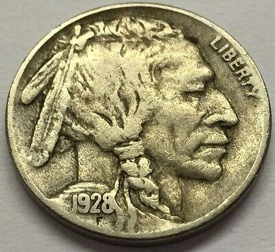 1928 S Buffalo Nickel * U.s. Indian Coin  * Free Bubble Ship With Tracking