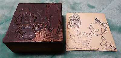 Campbell's ~ Campbell Kids ~ Dolly Dingle ~ Vintage ~ Metal Rubber Stamp ~ 2""