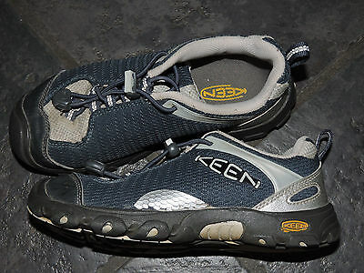 Boys Keen Jamison Midnight Navy Silver Low Hiking Shoes Tennis Youth 2