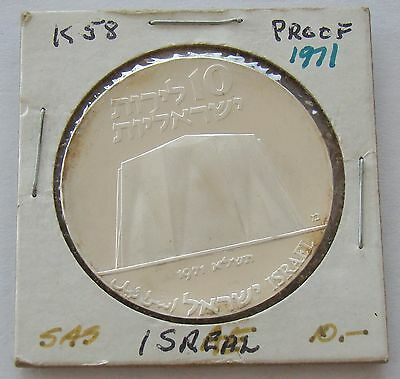 1971 Israel 10 Lirot 23rd Anniversary Of Independence 90% Silver Coin-Item# 5147