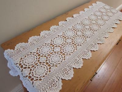 Vintage Table Runner Crochet Medallions