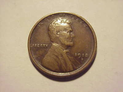 1918 S Lincoln Wheat Cent XF