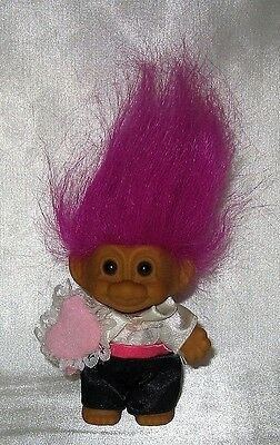 "Russ Ring Bearer 3"" Troll with Fuschia Hair"