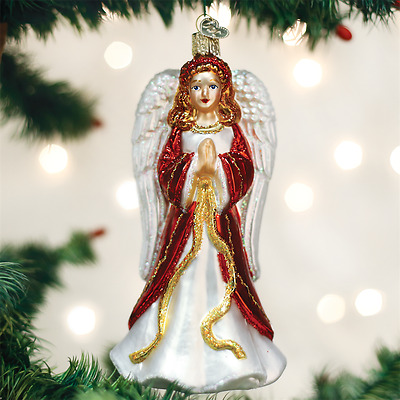 Divinity Angel Old World Christmas Tree Ornament NWT mouth blown glass