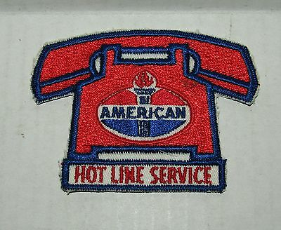 American Oil Company Hot Line Service Vintage Sew-On Cloth Uniform Patch
