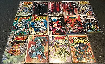 Lot Of 14 Vintage Comic Books, Agents Of Shield, Magnus, Scavengers, And More