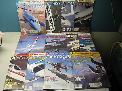 Air Progress Magazines 1983 Lot Of 12 Issues