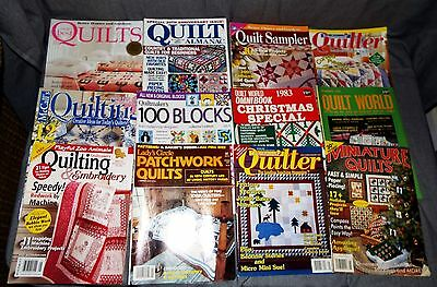 Lot of 12 Quilt magazines - Pictured & Listed - 1983 to 2011