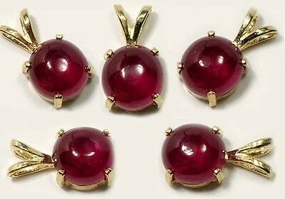 Ruby Gold Pendant 3 1/3ct Antique 18thC Ancient Hindu Warrior King of Gems 14kt