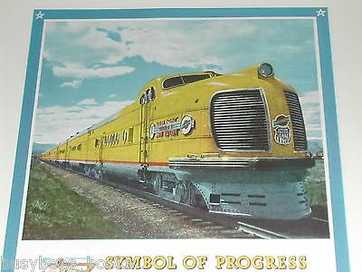 1943 Union Pacific RR advertisement, UP & C&NW Diesel Streamliner photo