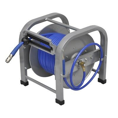 New Air Hose Reel 30M Retractable Auto Rewind Compressor Breathing Grade Tool PU