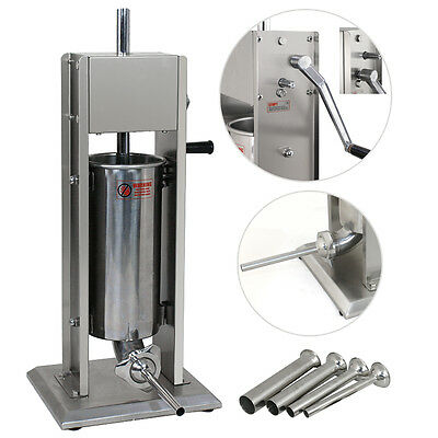 New Segawe 5L Sausage Stuffer Vertical Stainless Steel 11Lb Meat Filler