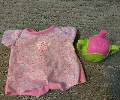 CPK Cabbage Patch Kid doll SIPPY CUP & JUMPSUIT replacement pieces JAKKS