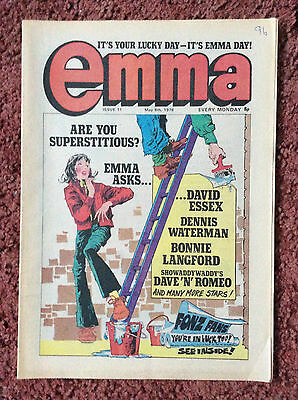 Emma Comic  Issue No. 11. 6 May 1978.  Vfn+. Excellent Condition. (