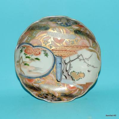 Japanese Porcelain Wonderful Antique Fukagawa Meiji Bird Plate Bowl