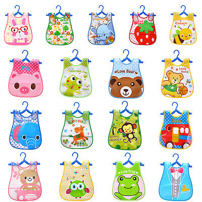 Baby Boys Girls Kids Bibs Waterproof Saliva Towel Cartoon Bib Feeding Bandana