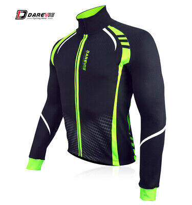 Jacket Windproof Thermal Breathable Black/Green Medium Race Fit DVA038