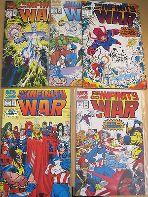 The INFINITY WAR : #s 1,2,3,4,5,( of 6 ) by STARLIN & LIM.THANOS.MARVEL.1992