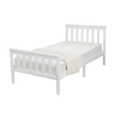 Single Ikea Bed White Metal Frame With Funky Stylish