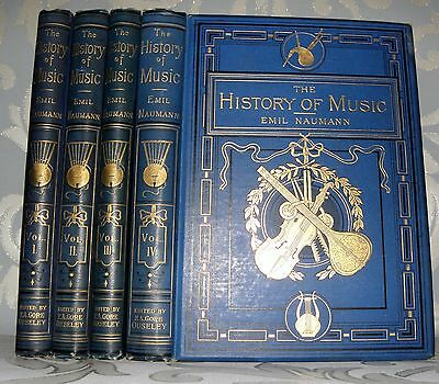 The History Of Music, Emil Naumann- 4 Volumes Only, c1880. Illustrated.