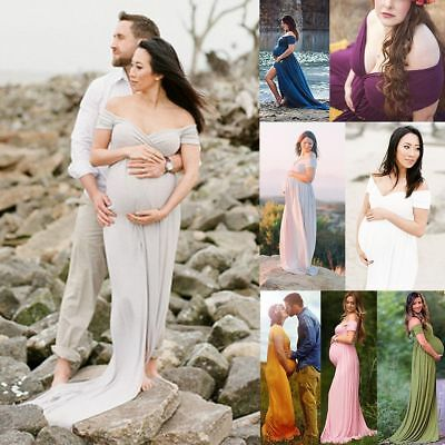 2017 Women Pregnant Long Maxi Gown Photography Photo Shoot Fancy Maternity Dress