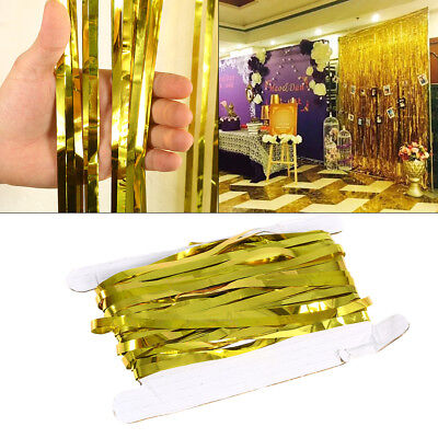 2/3m Reusable Foil Tinsel Fringe Curtain Birthday Wedding Party Hanging Decor
