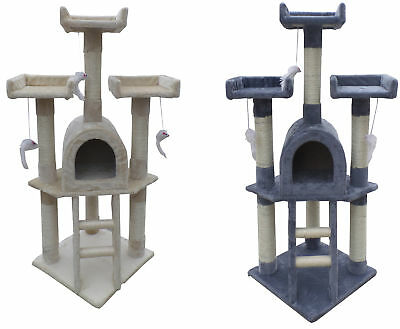 Cat Tree Scratching Post Activity Centre Bed Toys Scratcher Kitten Pet Protect