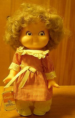 1988 Vtg Campbell's Kids Special Edition Girl Doll w Tag Collectible Advertising
