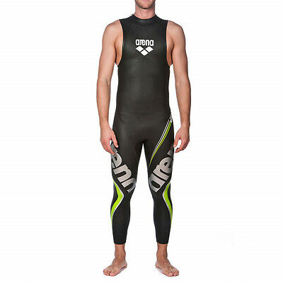 New Arena Racing Swimsuit Mens Carbon Tri Wetsuit Sleeveless